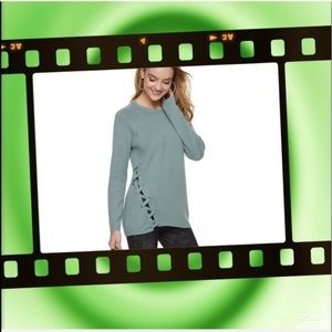 Women's ROCK & REPUBLIC Lace Up Knitted Sweater